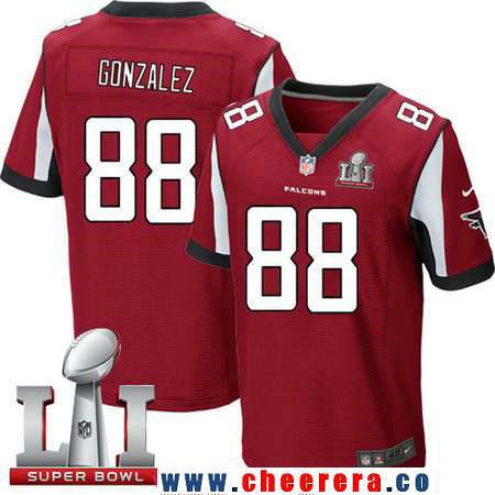 5c16f8885 purchase nfl jersey sales by team nike falcons tony gonzalez red team color  super bowl li