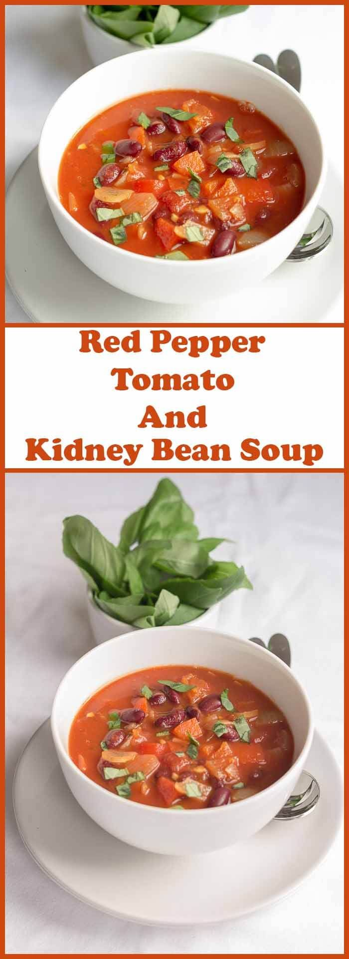 Red Pepper Tomato And Kidney Bean Soup
