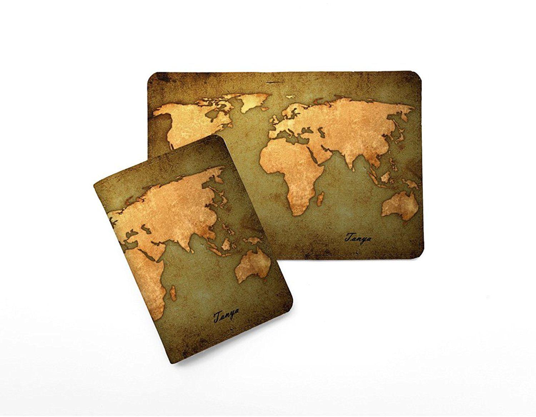 Amazon vintage old world map passport holder leather amazon vintage old world map passport holder leather passport cover vintage gumiabroncs Images