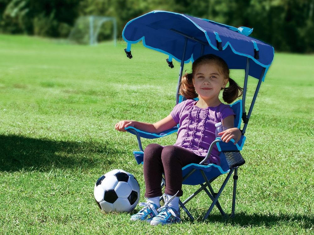 kids chair with canopy pretty bedroom chairs new kelsyus original portable beach folding lightweight