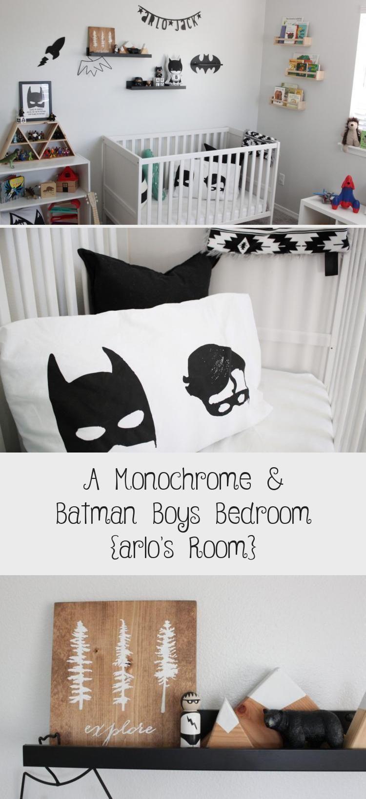 A Modern Monochrome & Batman Superhero Theme black and white / neutral minimal B...  A Modern Monoc