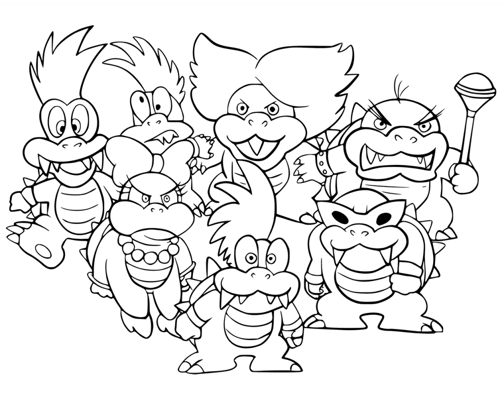 Bowser Coloring Pages Coloring pages, Coloring pages for