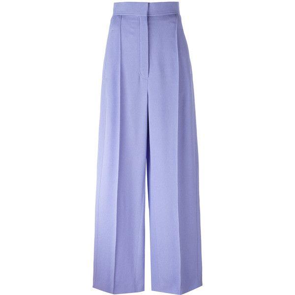08266aa13a05c3 Céline - wide legged, high waisted trousers - women - Cotton/Viscose ...