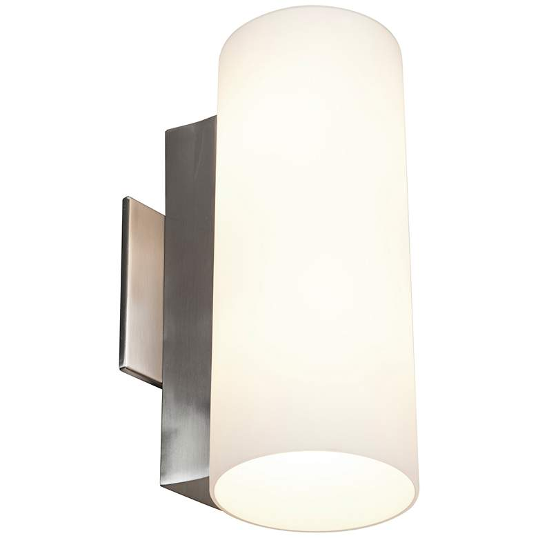 Tabo 12 High Brushed Steel Wall Or Vanity Light 7x609 Lamps Plus Contemporary Wall Lights Vanity Lighting Steel Wall