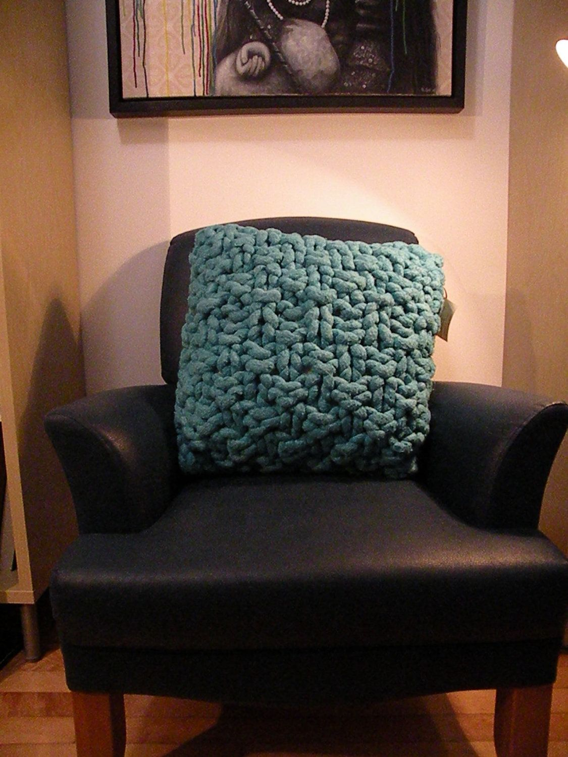 Chunky giant knit cushion cover pillow soft cotton rope