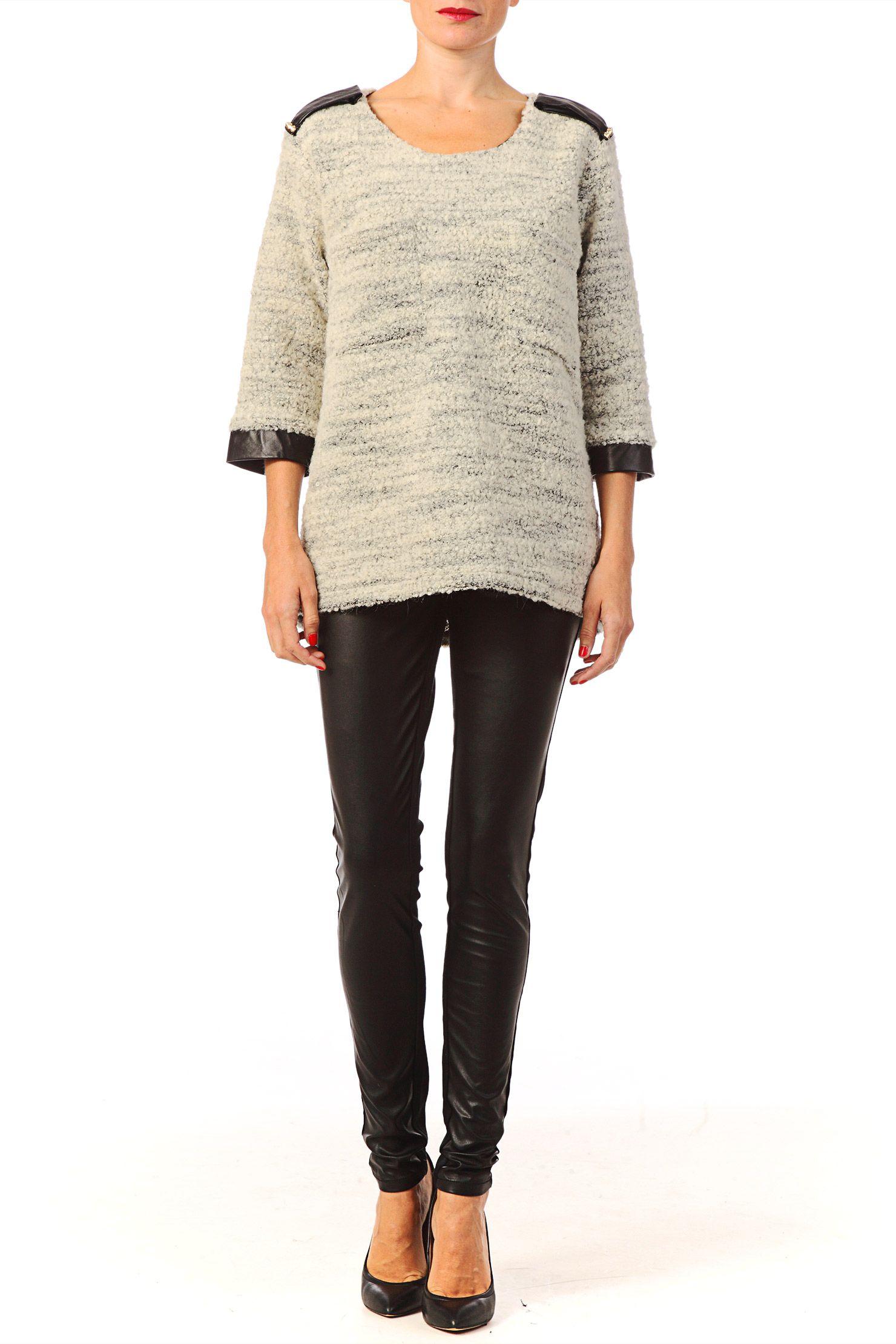 Pull en laine Ophelie Gris Ella Luna sur MonShowroom.com