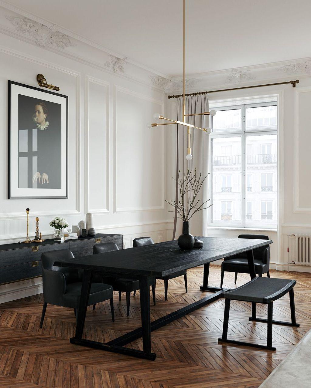 36 Fantastic Black Dining Room Design Ideas Dining Room