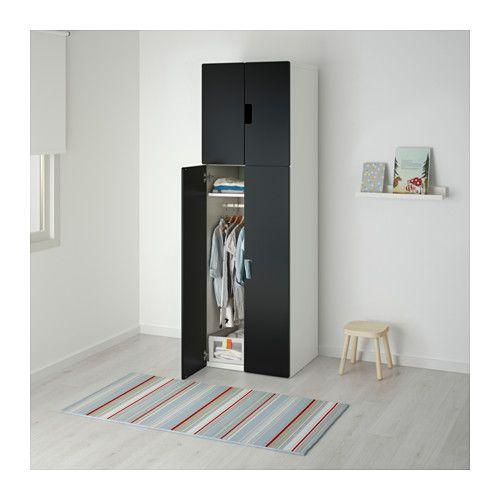 STUVA Mobile con ante - bianco/nero - IKEA