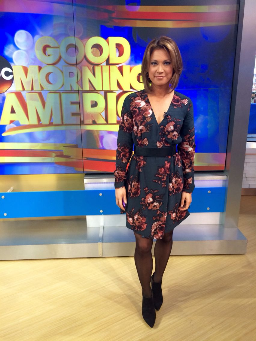 Ginger Zee Hot Pics intended for went with an @aritzia print today & my ysl booties :)   my