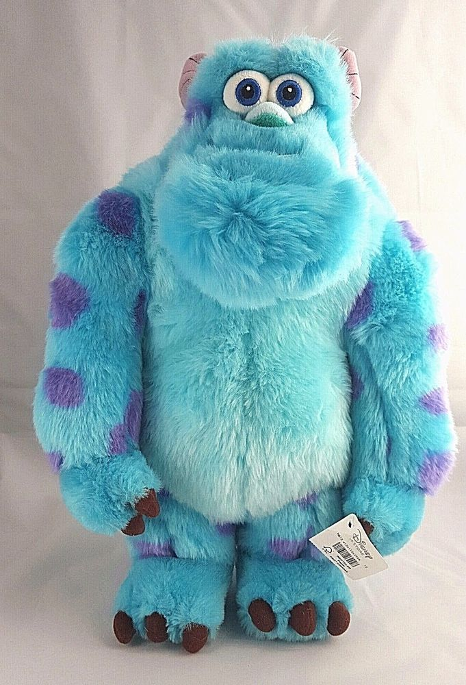 Sulley Monsters Inc Plush 15 Inch Disney Store Exclusive NWT Blue Monster  50033743a