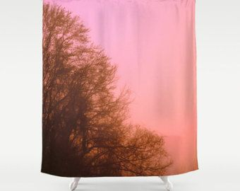 Check Out Pink Shower Curtain Pink Tree Pink And Brown Bathroom