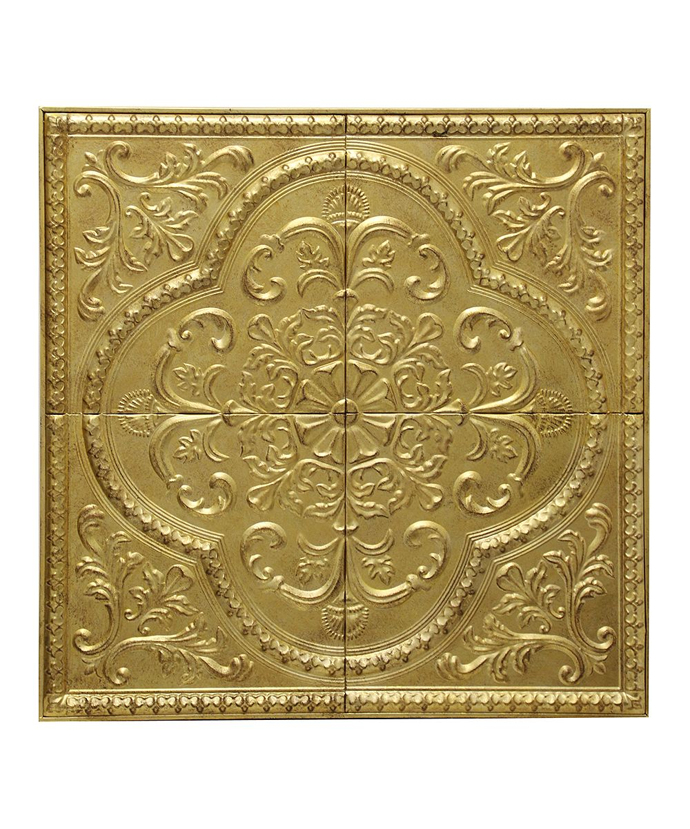 Gold Stamped Metal Wall Plaque | Metal walls, Metals and Products