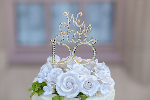 """We Still Do"" Walt Disney World Vow Renewal Cake Topper In"