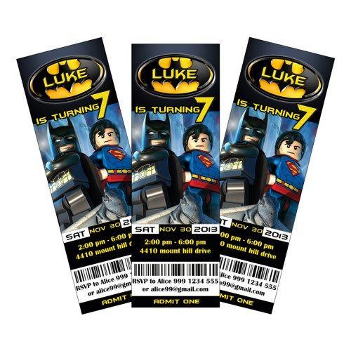 Lego Batman Invitaciones Del Partido De Impresión Gratuita