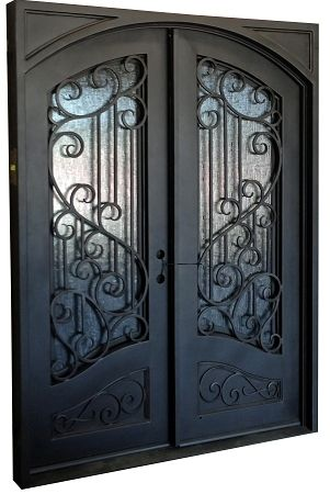 6 0 X8 0 Sofia Exterior Wrought Iron Door Wrought Iron Doors Iron Front Door Wrought Iron Entry Doors