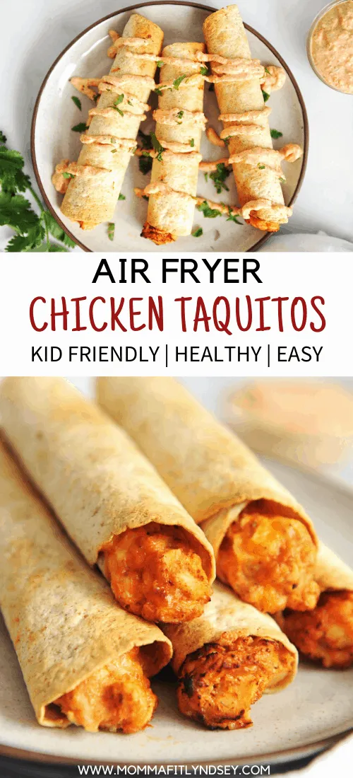 Homemade Taquitos Healthy Air Fryer Taquitos Momma Fit