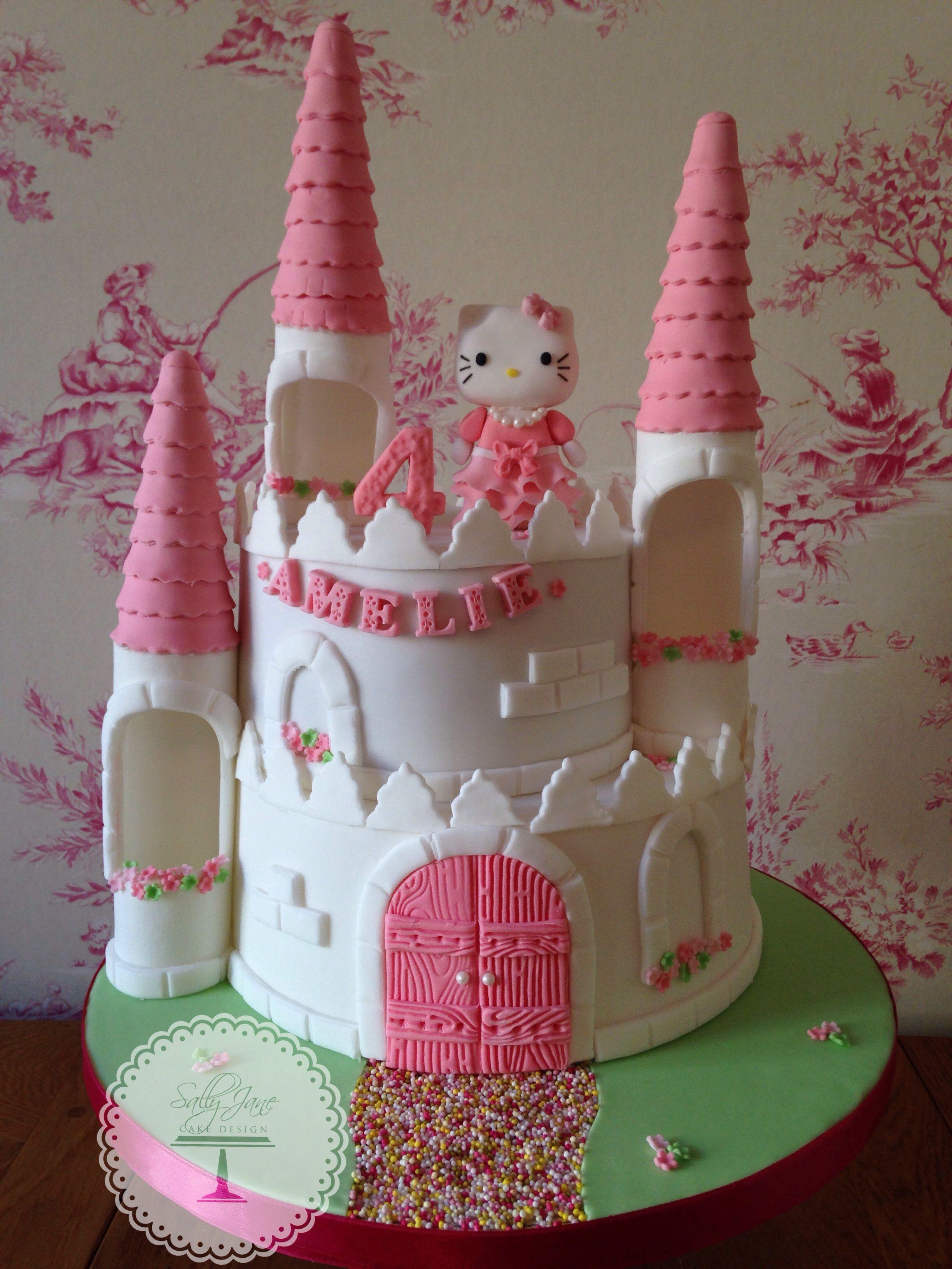 White & Pink Princess Hello Kitty Cake | Cake, Hello kitty ...