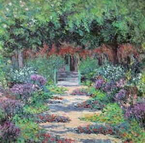 Giverny's Garden, The Path of Roses(after 1926)  Blanche Hoschedé-Monet