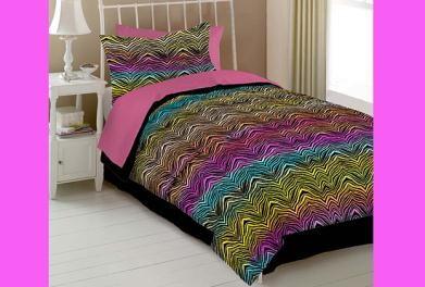 Walmart Zebra Bedsets For Twin Size Bed Rainbow Zebra