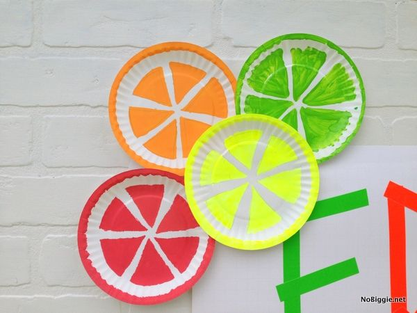 The perfect summer kid craft Paper plate fruits  sc 1 st  Pinterest : paper plate fruit - Pezcame.Com