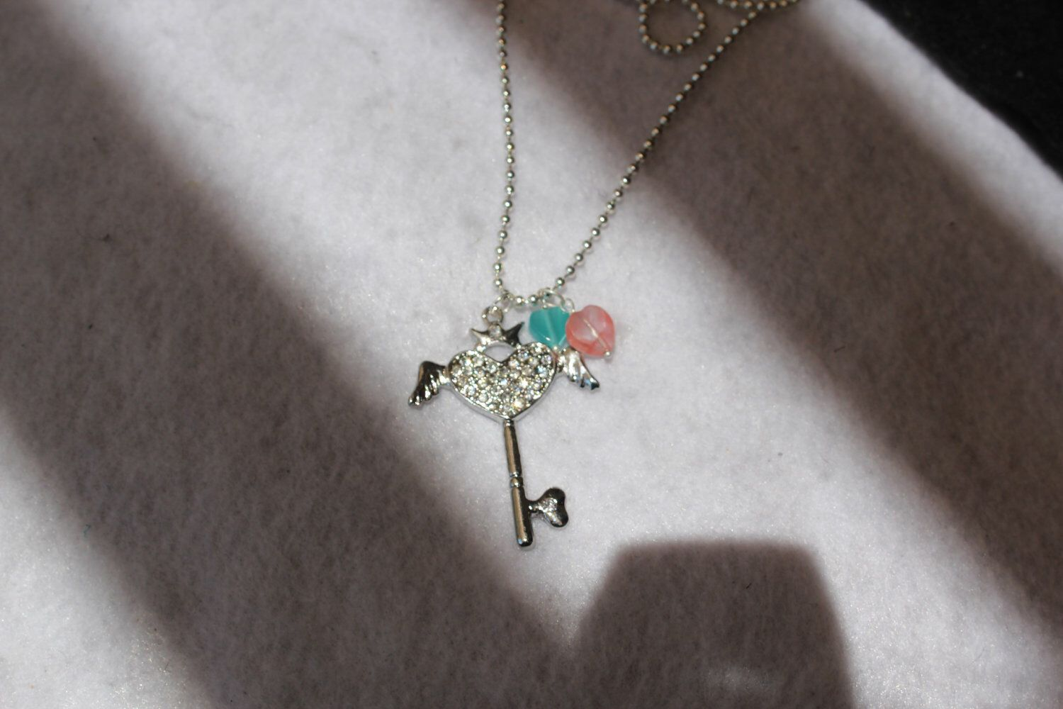 A personal favorite from my Etsy shop https://www.etsy.com/listing/104022623/rhinestone-heart-key