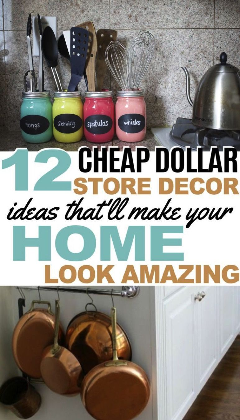 12 Cheap and Easy Dollar Store Decor Hacks