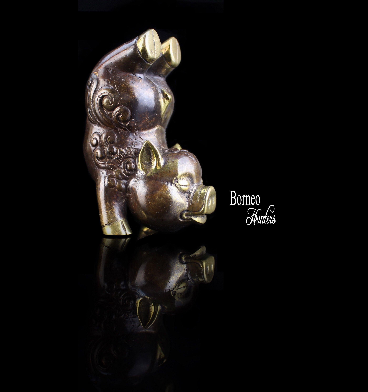 Brass Porky 57CM Pig SculptureGood Luck Porky