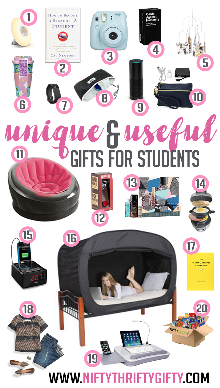 gift ideas college student Whether it's for the winter holidays or for a birthday, buying a thoughtful gift for your parents always seems to present a challenge college students are often short on time and money--two of .