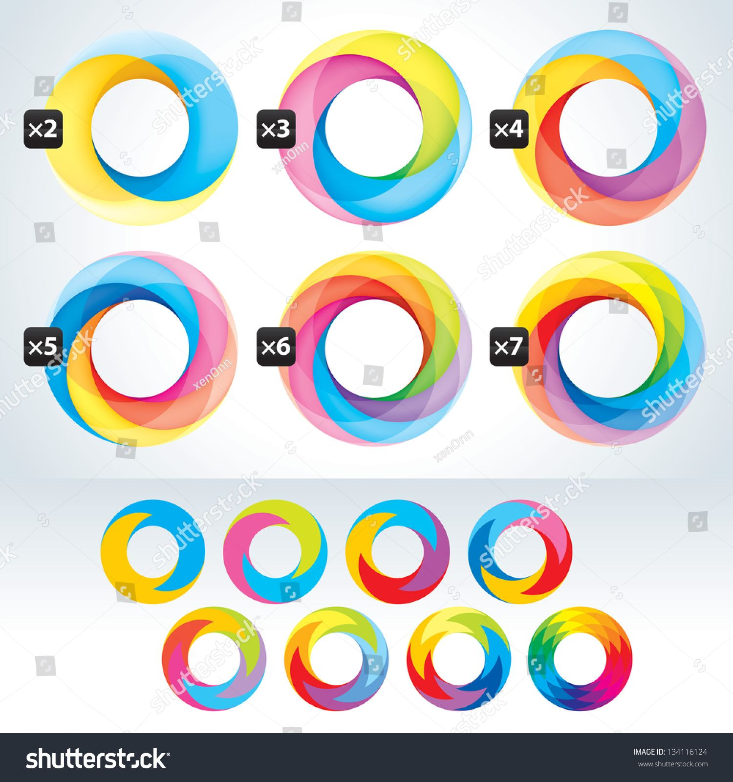 Set of abstact Infinite loop symbol template Icons
