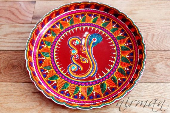 Ganesh pooja thali decorative henna mehndi design thali festive ganesh pooja thali decorative henna mehndi design thali festive homedecor nikah shadi junglespirit Choice Image