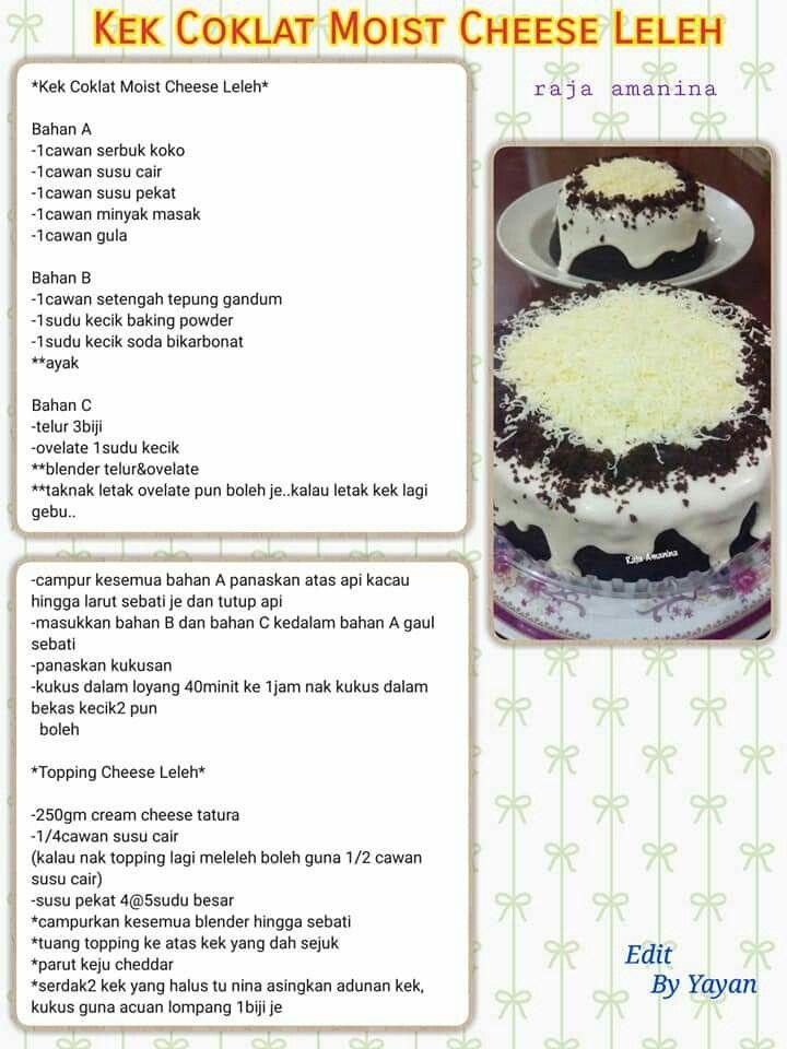 Pin By Noorleha Taib On Cake Cake Baking Recipes Cake Recipes Sweet Recipes