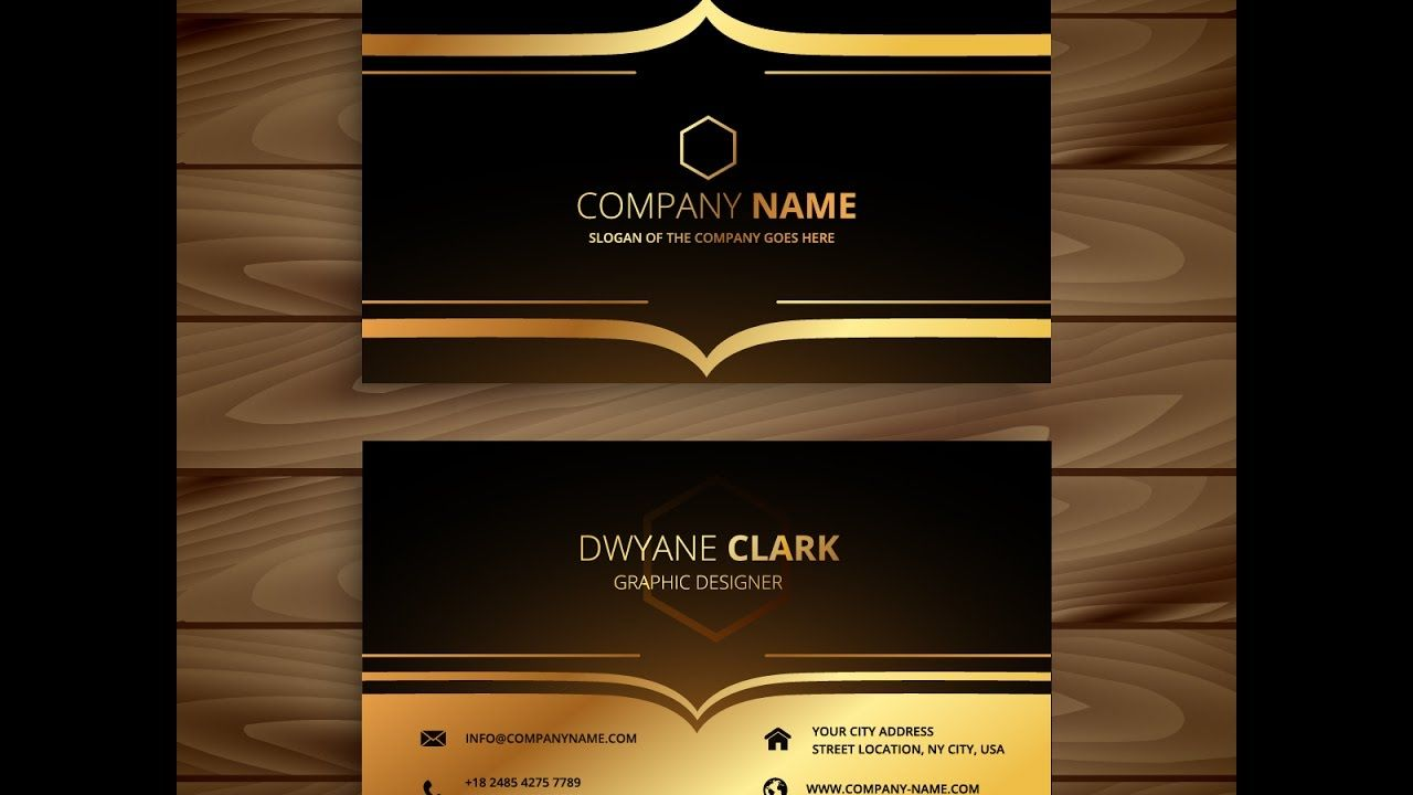 How To Create Luxury Golden Style Business Card In Adobe Illustrator Cs6 Luxury Business Cards Business Card Stock Vector Business Card