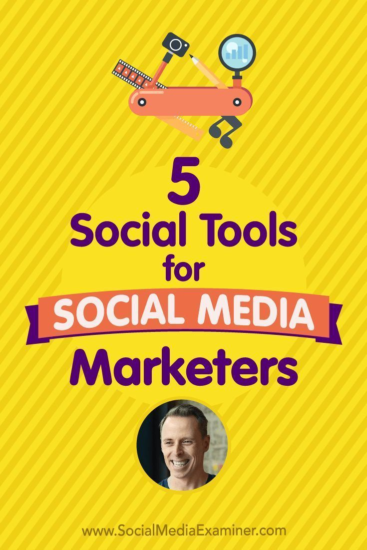 Social Media Marketing Podcast 278. In this episode Ian Cleary explores five different tools to help social marketers better do their job. via @smexaminer