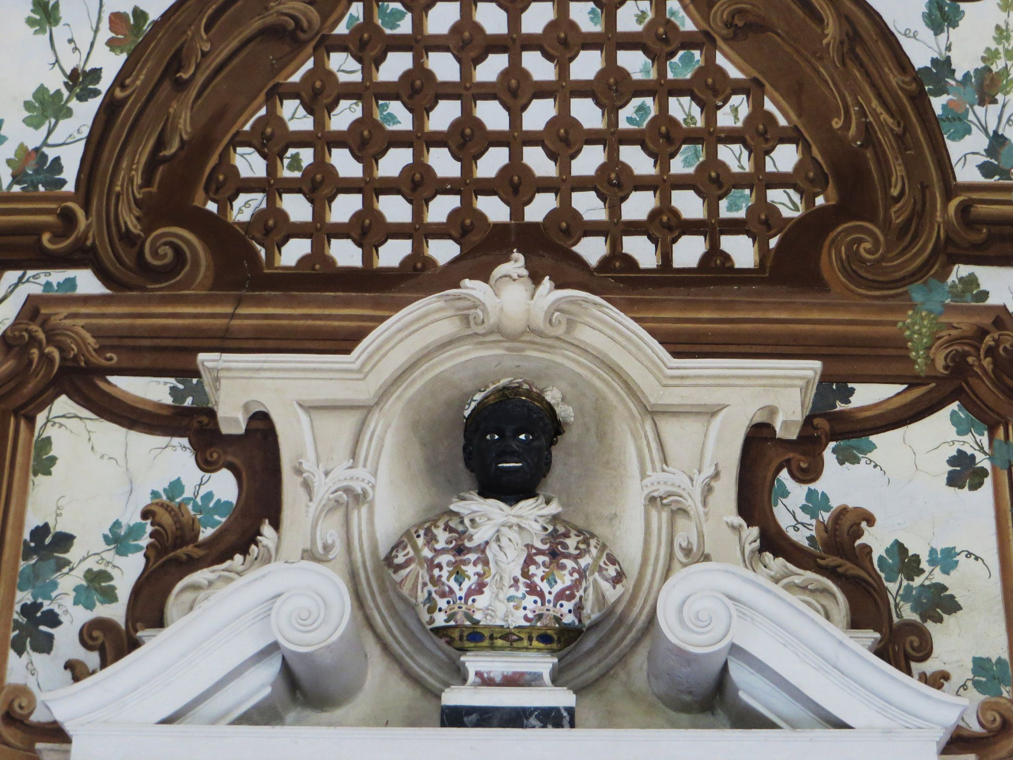 Dans le jardin suspendu, Palais ducal, Mantoue, province de Mantoue, Lombardie, Italie.