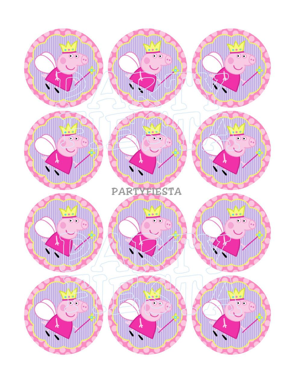 24 x 4cm Personalised Stickers Round Birthday Balloons Colourful Party Labels