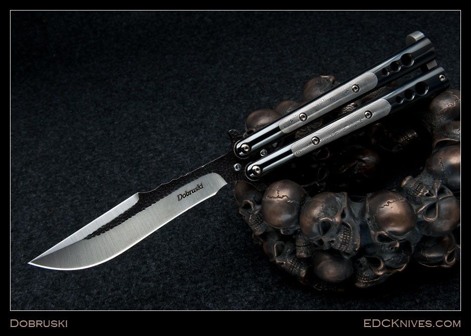 (http://www.edcknives.com/products/Dobruski-Balisong-%2d-Bowie-%2d-Black-SS-and-Damascus.html)