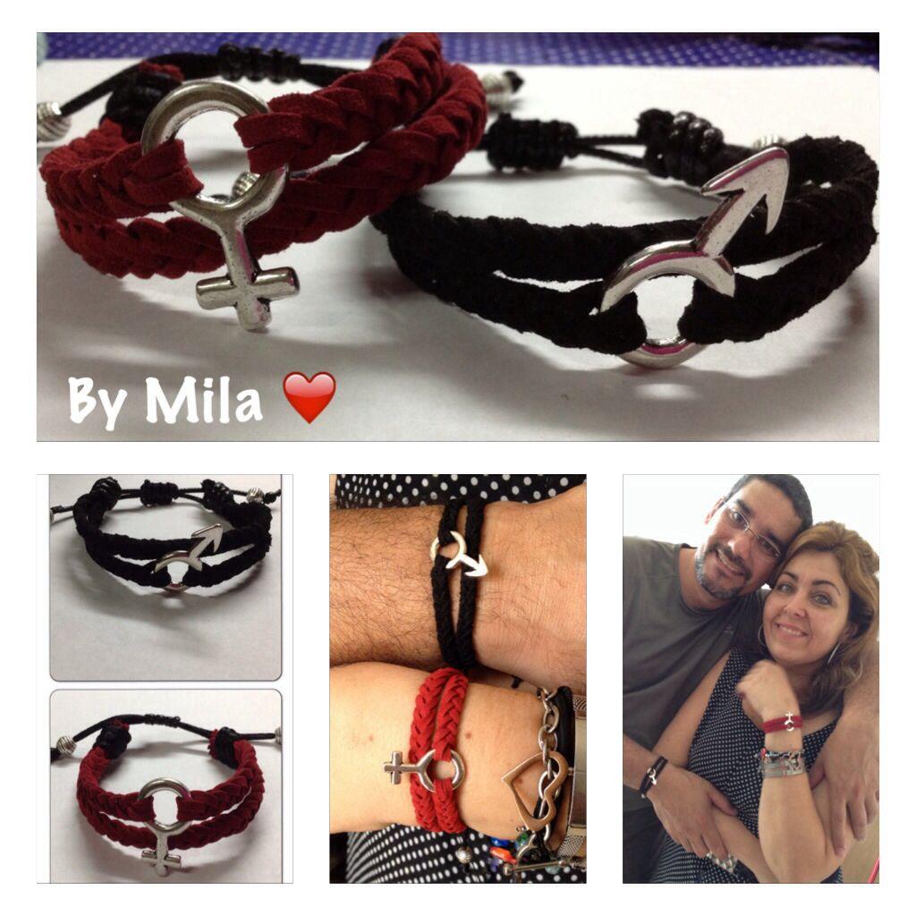 03ccd646837b Aniversario de bodas❤ . Pareja de pulseras para hombre y mujer en ...