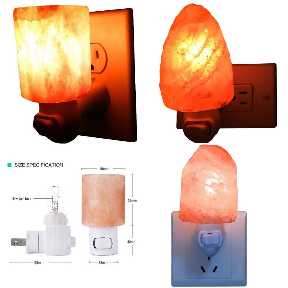Salt Lamp Wall Light Natural and Cylinder Shape Night Light Lamp ...