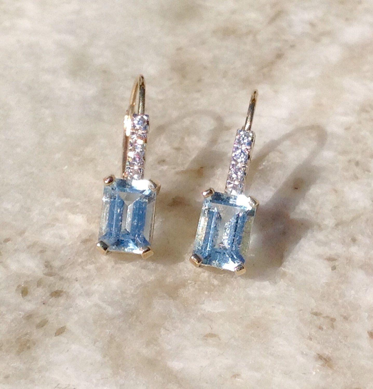 Genuine Aquamarine Carved Earring Aquamarine Dangles Aquamarine jewelry Aquamarine Earring Carved Earring