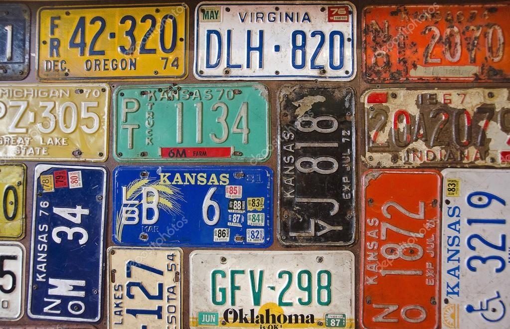 Rusty retro license plates  Stock Photo