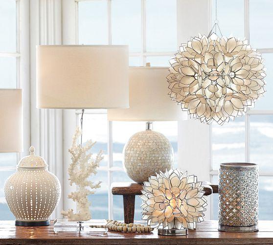 Capiz Pendant Livingroom Home Decor Lamp Bases Home Decor