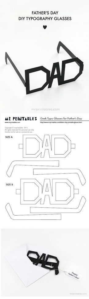 DIY Fathers Day Cards {The Best FREE Printable Paper Crafts just for DAD!}