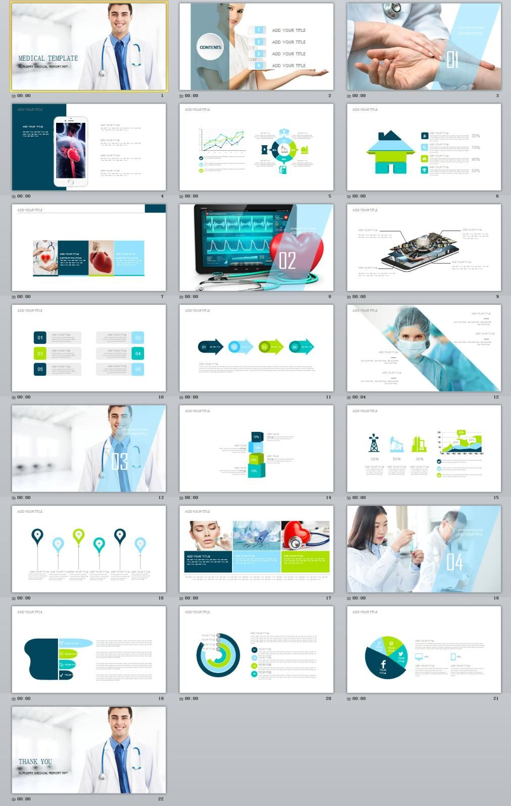 Best Medical Report Powerpoint Template Business