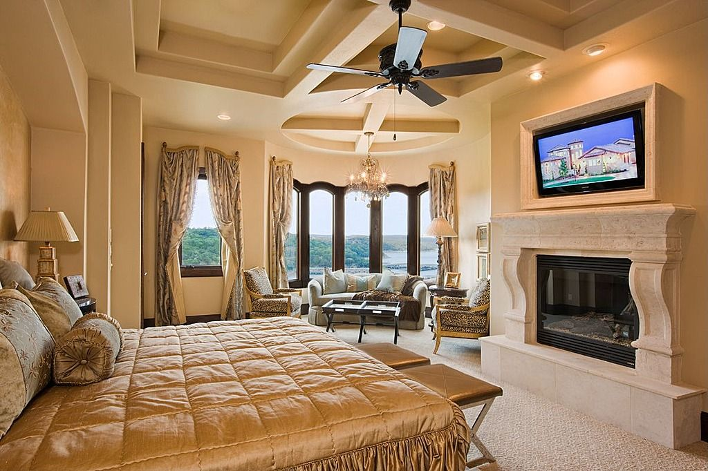 Modern Master Bedroom Suites modern master bedroom with fireplace | bedroom design ideas