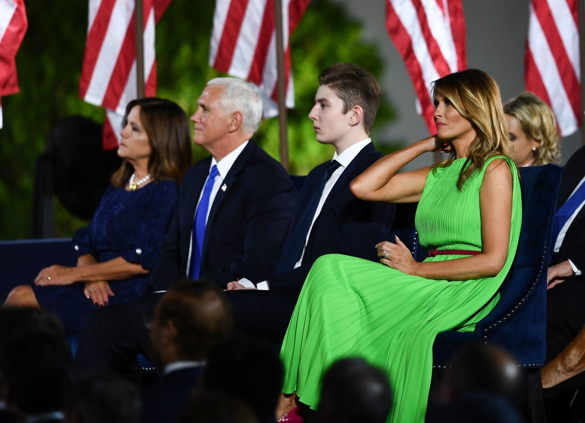 Pin By Mona Salama On What Melania Wore In 2020 First Lady Melania Trump Lime Green Dress Trump Is My President