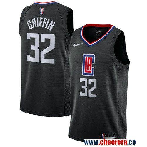501605171 Men s Nike Los Angeles Clippers  32 Blake Griffin Black NBA Swingman  Statement Edition Jersey