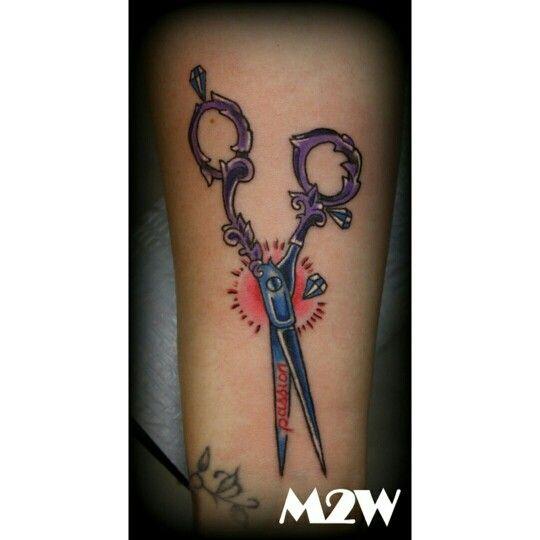 Scissor tattoo By Mike Greer/Mild 2 Wild Tattoo