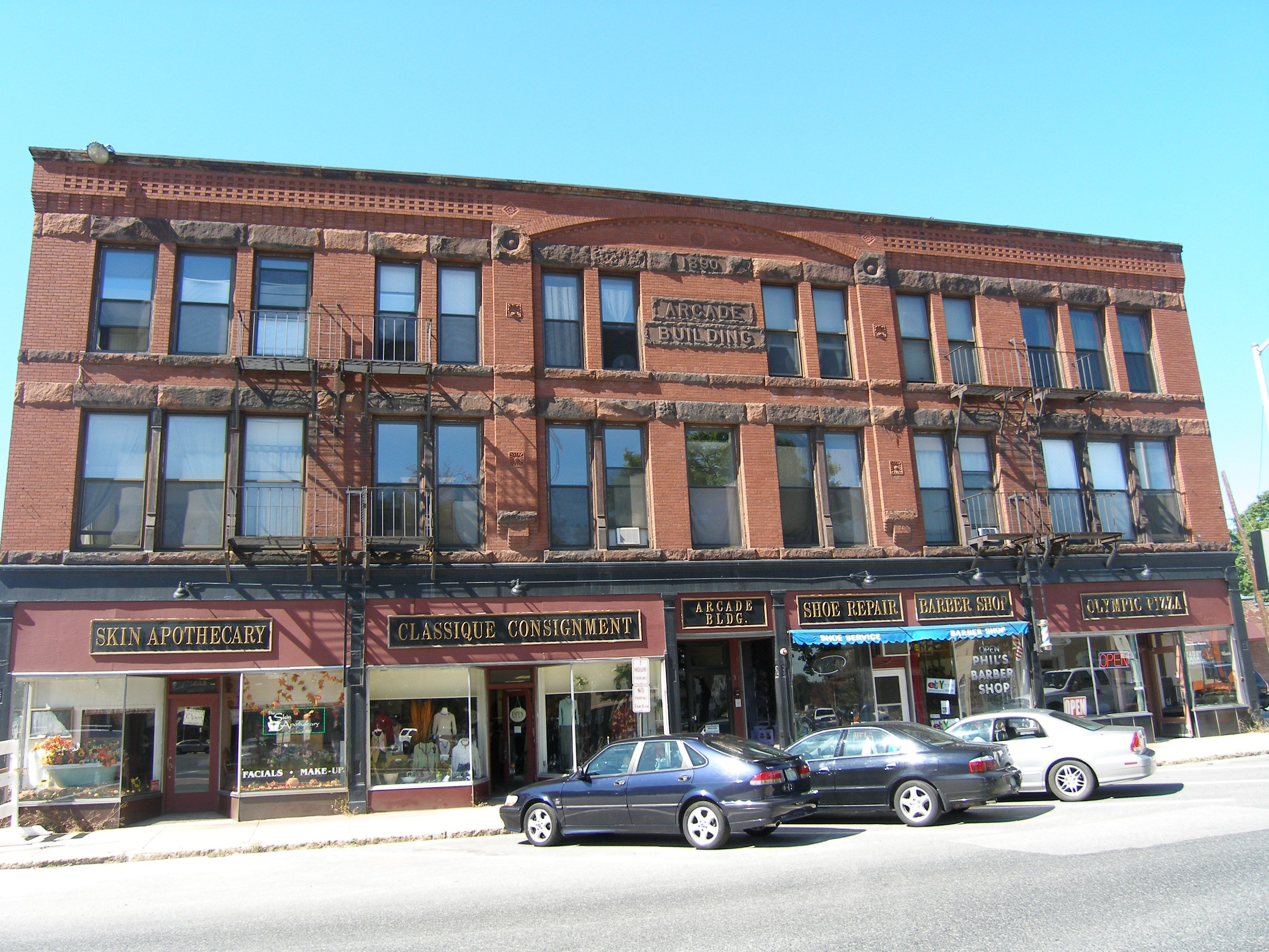 Arcade building in Westborough Massachusetts town center