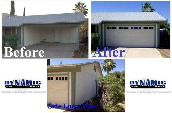 Take A Look At Our Before After Pictures Of A Carport Garage That Was Installed With An Existing Carport This Carpor Entry Doors Carport Garage Door Repair