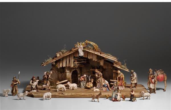 Krippefiguren Ankleidekrippe Weihnachtskrippe Alpenländisch 3-teilig NEU